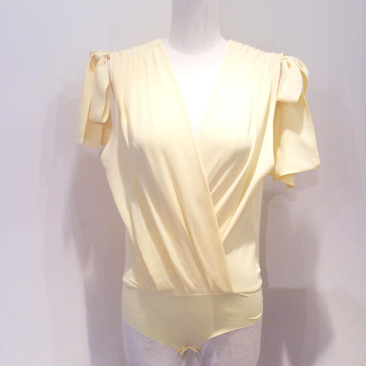 ELISABETTA FRANCHI(エリザベッタ フランキ)  bodysuit with silk ribon blouse 1823015