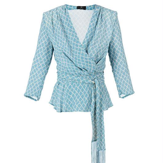ELISABETTA FRANCHI(エリザベッタ フランキ) blouse  with diamond print 1813040