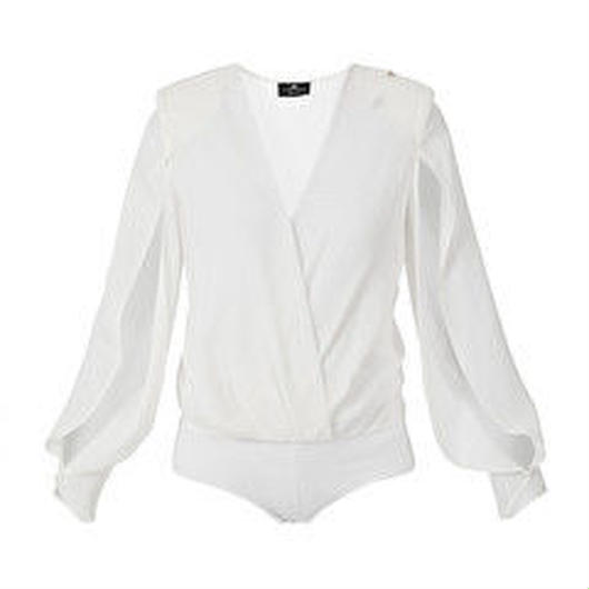 ELISABETTA FRANCHI(エリザベッタ フランキ)  bodysuit with silk blouse 1813008