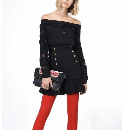 PINKO(ピンコ) border lace blouse