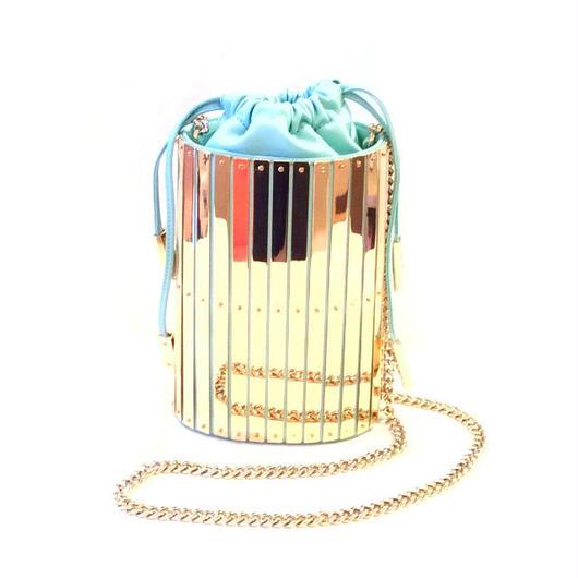 ELISABETTA FRANCHI(エリザベッタ フランキ) Bucket bag with golden plaques