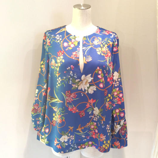 PINKO(ピンコ) blue flower blouse 1811G139W-6858