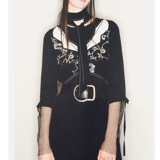 DOROTHEE SCHUMACHER (ドロシーシューマッハ)BLACK  blouse
