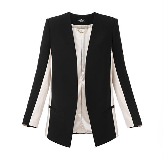 ELISABETTA FRANCHI(エリザベッタ フランキ)  jacket with contrasting sleeves 1816018