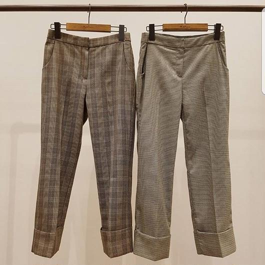 再販決定!10月下旬発送 予約販売Check pants
