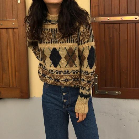 再入荷!pattern knit