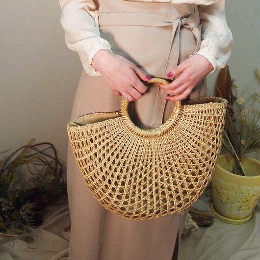 Half moon basket bag