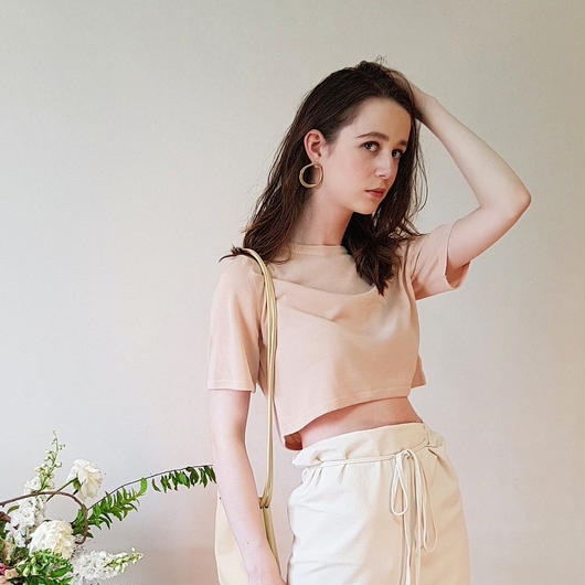 予約販売 Summer cropped knit