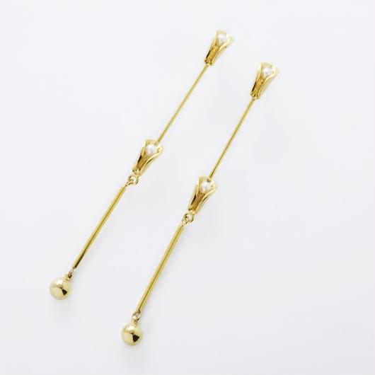 ruffle long pierce