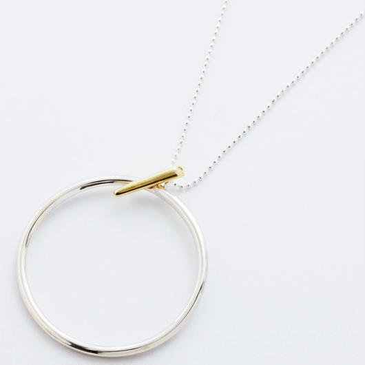 pin hoop necklace