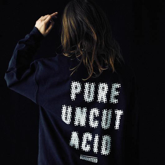 PURE UNCUT ACID Dot Sweat / Black