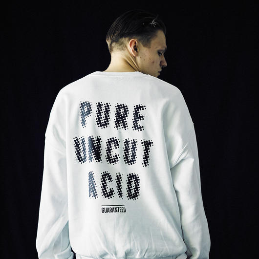 PURE UNCUT ACID Dot Sweat / White