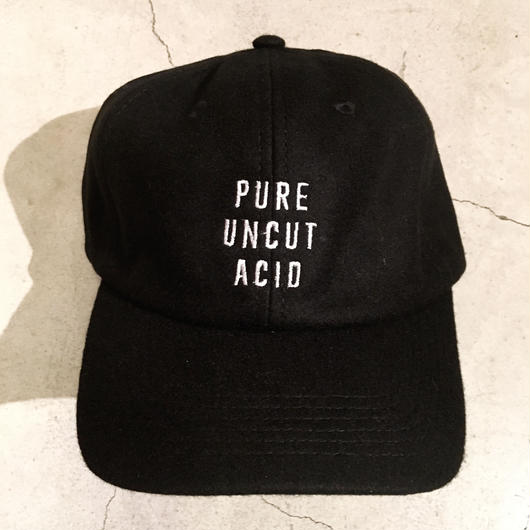 PURE UNCUT ACID Wool Cap / Black