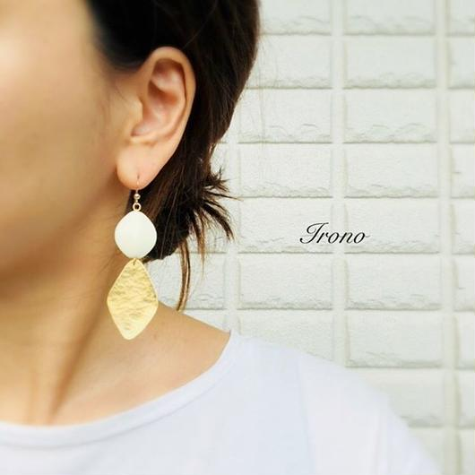 vintage × exclusive brass  / ピアス / イヤリング