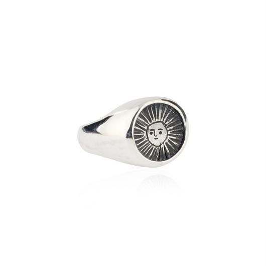 Sun signet ring oxidised silver (サンシグネットリング シルバー)