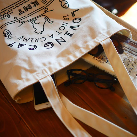 LOVING CAT TOTEBAG