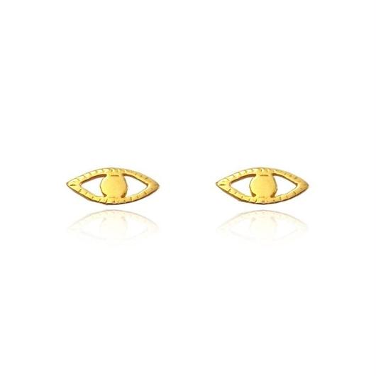 EYE STUD	EARRINGS 22K GOLD VERMEIL (ゴールドアイピアス)