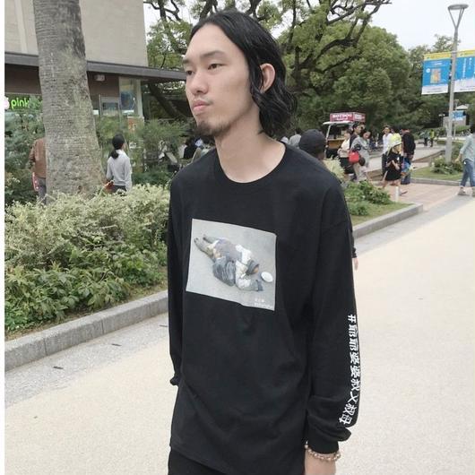#gg8803083 L/S Print T-Shirt (BLACK)