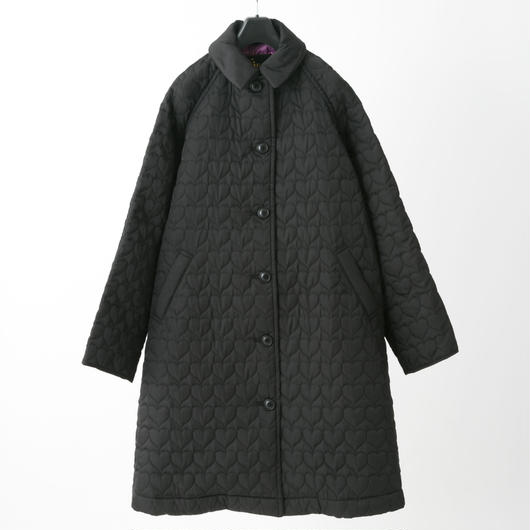 Quilted coat (black)