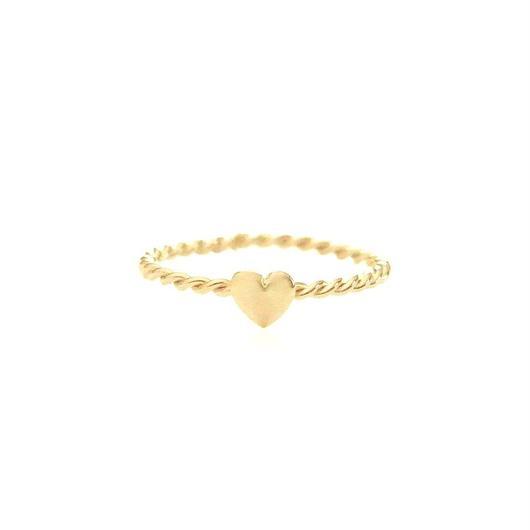 TINY HEART RING 22K GOLD VERMEIL (ゴールドプチハートリング)