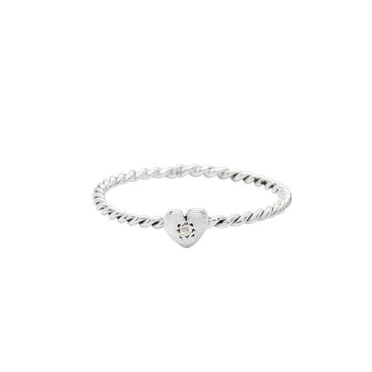TINY HEART RING SILVER / DIAMOND(シルバープチハートリング ダイアモンド)