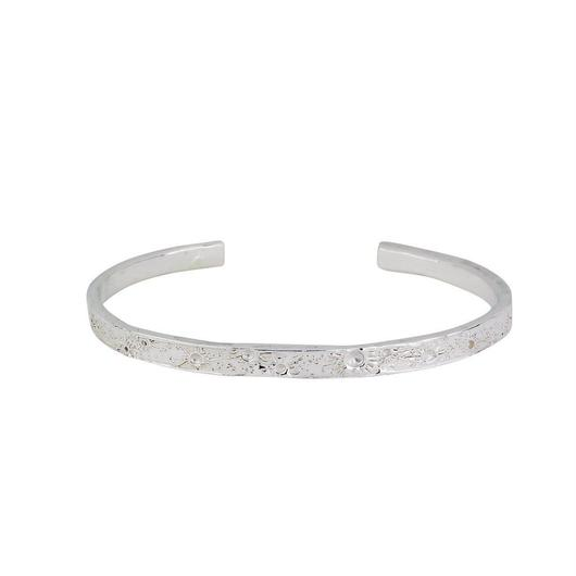 Moon crater bangle silver 4mm (ムーンクレーター バングル 4mm)