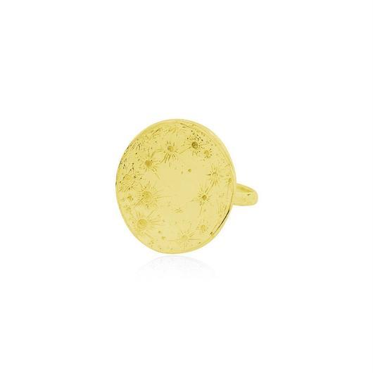 Large moon disc ring gold (ラージムーン ディスクリング ゴールド)