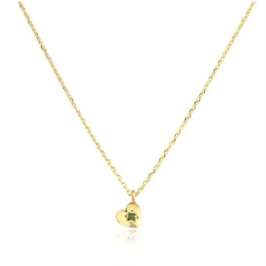 TINY HEART NECKLACE 22K GOLD	VERMEIL/EMERALD(ゴールドプチハートネックレス エメラルド)