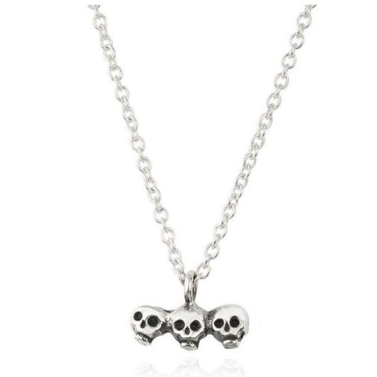 SKULL	BROTHERS NECKLACE	SILVER(シルバースカル兄弟ネックレス)