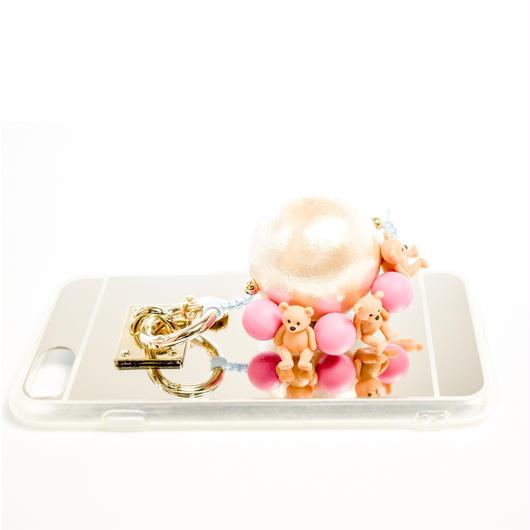 iphoneケース テディベア (ピンク)