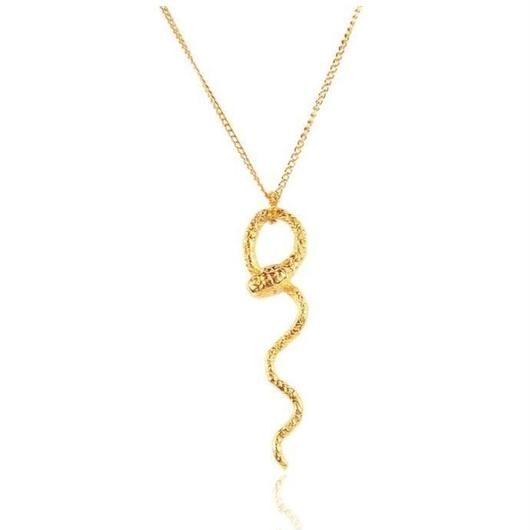WAVY	SNAKE NECKLACE 22K	GOLD	VERMEIL(ゴールドスネークネックレス)