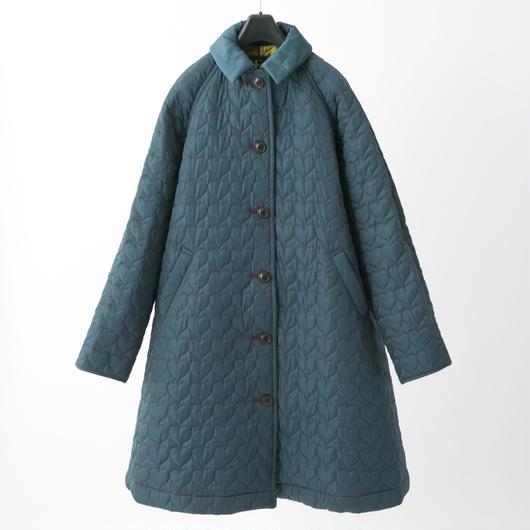 Quilted coat (dark green)