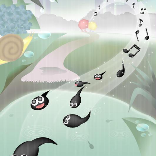 A4イラスト015 Rain Drop Music