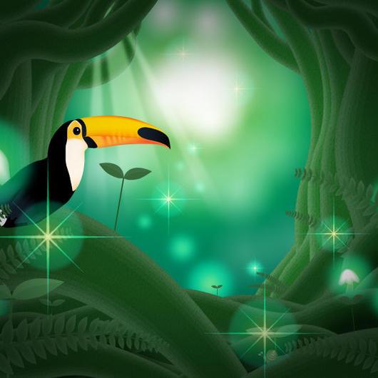 A4イラスト141 緑の楽園