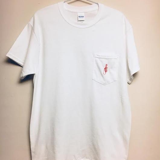 スプーン曲げ刺繍ポケットTシャツ