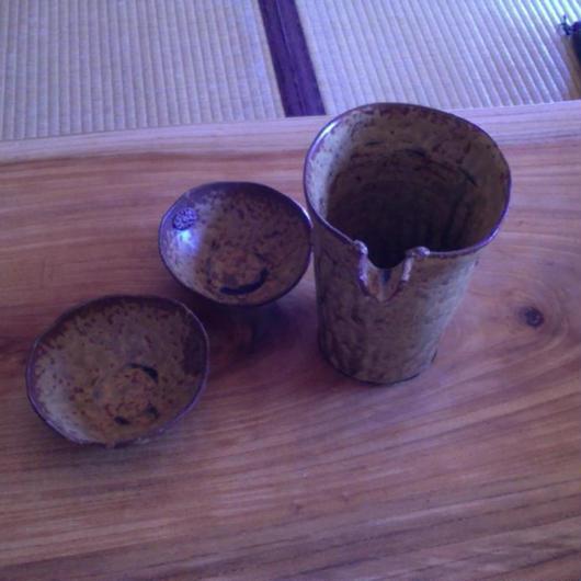 手作り陶器・冷酒セット