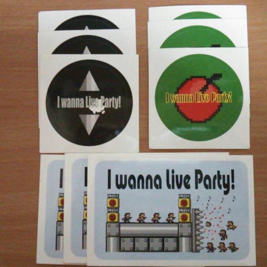 【ステッカー】I wanna Live Party! 3デザイン9枚セット【送料無料!!】