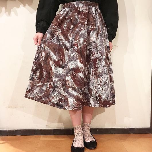 USA製 ブラウン総柄スカート