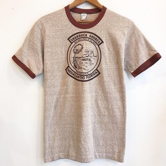 1970's  白鳥プリント リンガーTシャツ