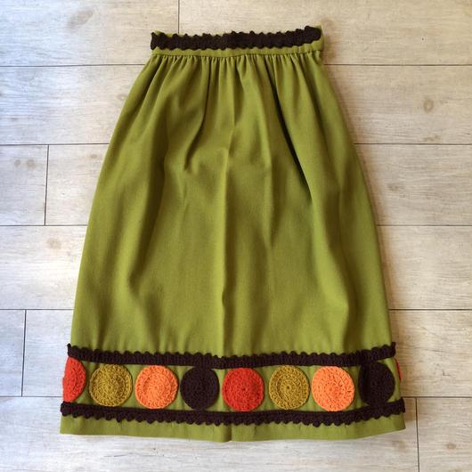 vintage グリーンニットスカート