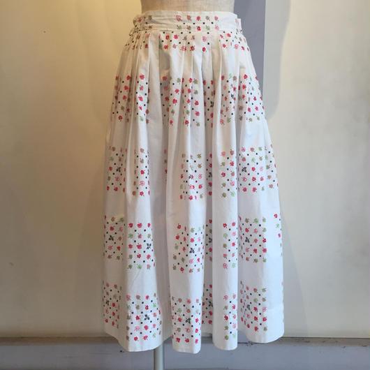 vintage 1950年代お花柄スカート