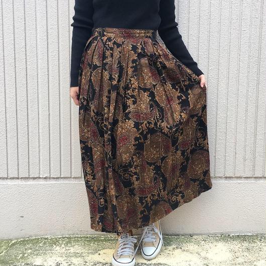 USA製 ペイズリー柄レーヨンスカート