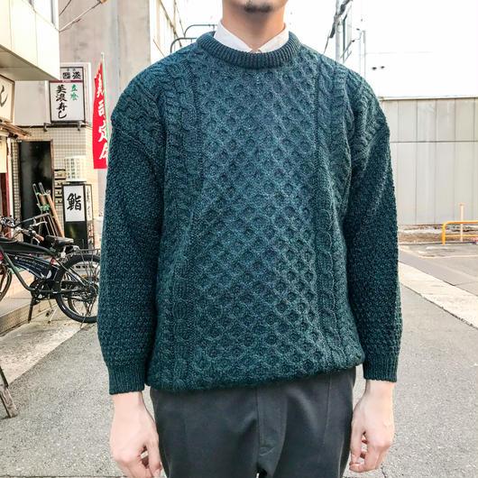 Blue fisherman knit