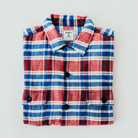 【Flannel Shirts】col. レッド