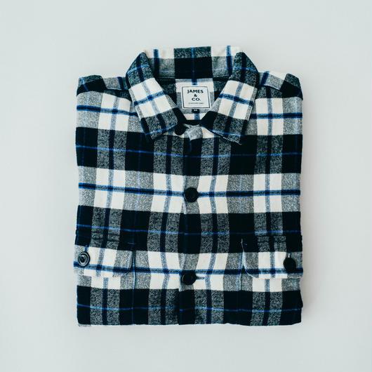 【Flannel Shirts】col. ネイビー