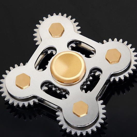 【オープンセール!】最高級ギア式!4-5分!黄銅製専用ケース付 CNC精密加工ハンドスピナー Hand spinner torqbar fidget!
