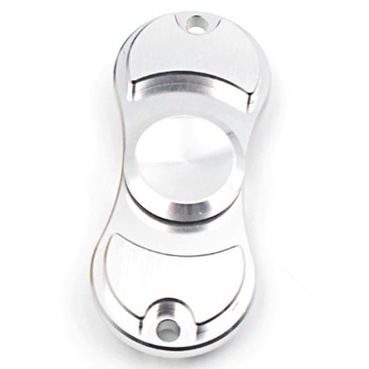 【オープンセール!】ハンドスピナー 指スピナー Silver(シルバー) HAND SPINNER アルミ合金モデル 専用ケース付き
