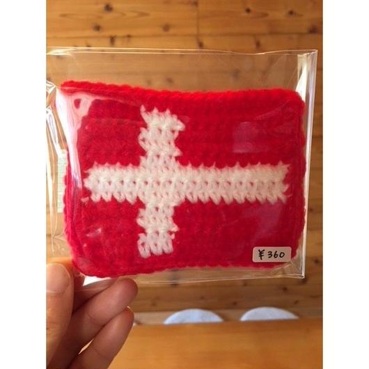 北欧国旗のアクリルたわし