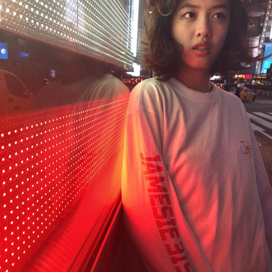 White × Red Long Tee