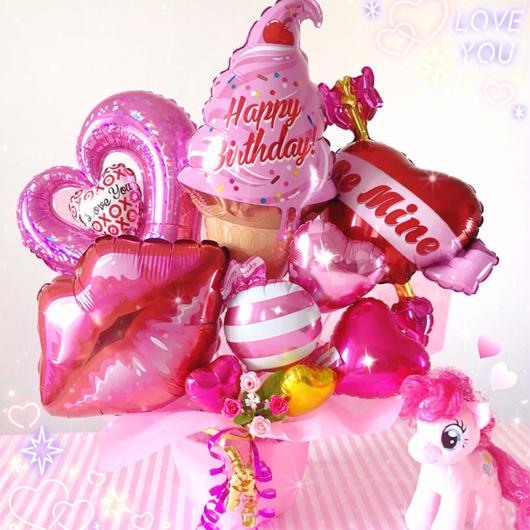 Pinkpinkpink...♥お誕生日♥女の子向けギフトバルーン♥